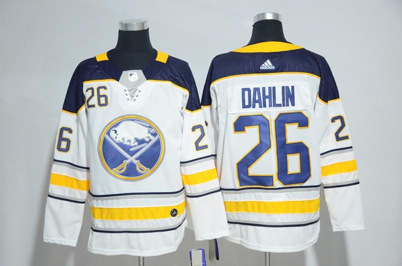 Sabres 26 Rasmus Dahlin White Adidas Jersey
