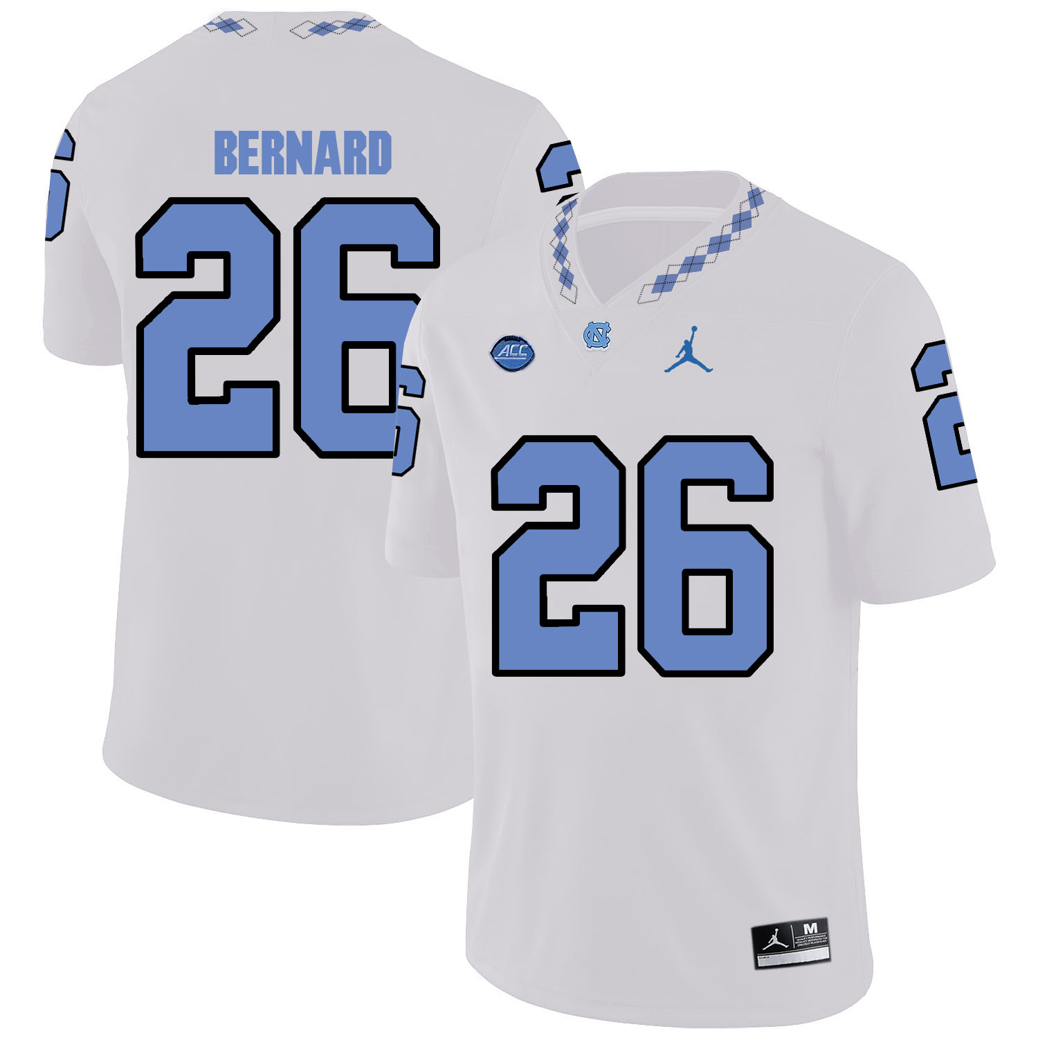 North Carolina Tar Heels 26 Giovani Bernard White College Football Jersey