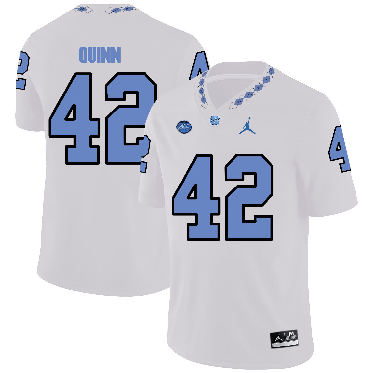 North Carolina Tar Heels 42 Robert Quinn White College Football Jersey