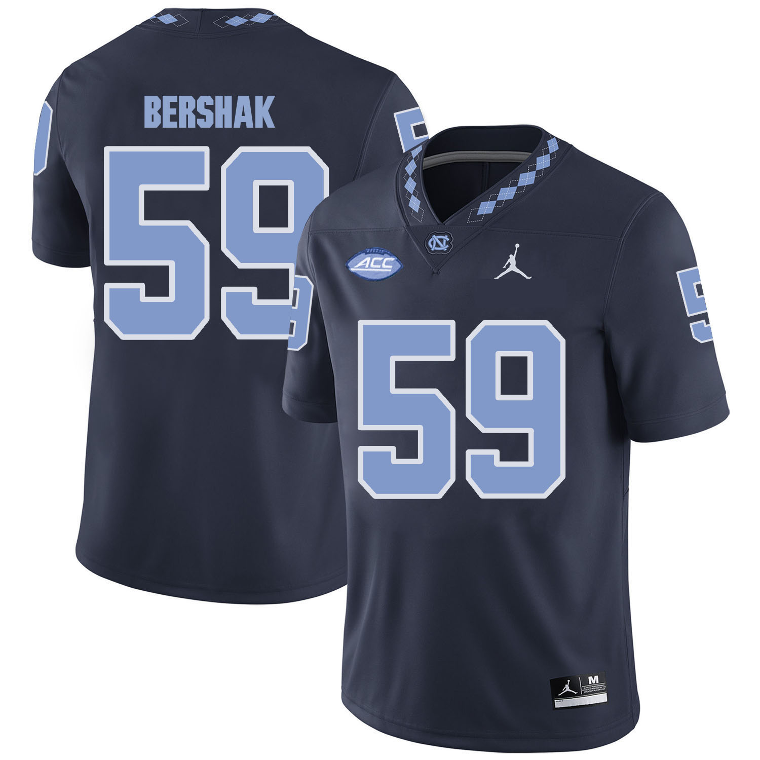 North Carolina Tar Heels 59 Andy Bershak Black College Football Jersey