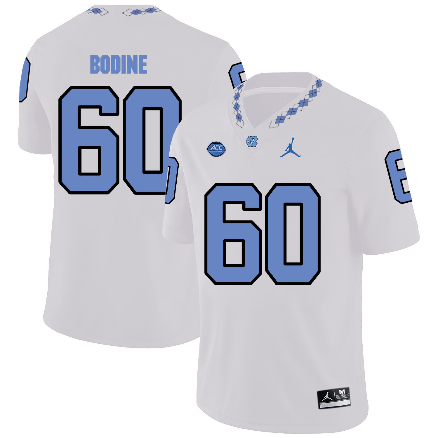 North Carolina Tar Heels 60 Russell Bodine White College Football Jersey
