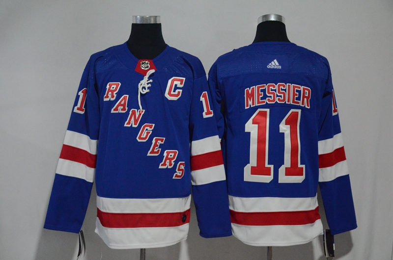 Rangers 11 Mark Messier Blue Adidas Jersey