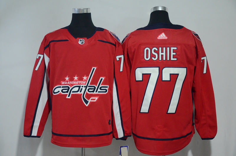 Capitals 77 T.J. Oshie Red Adidas Jersey