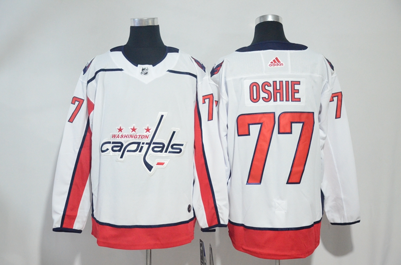 Capitals 77 T.J. Oshie White Adidas Jersey