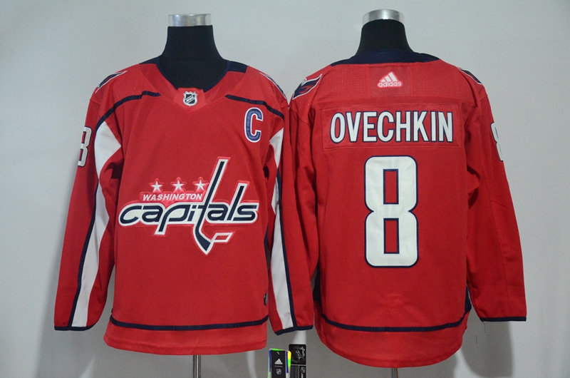 Capitals 8 Alexander Ovechkin Red Adidas Jersey