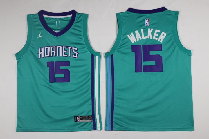 Hornets 15 Kemba Walker Teal Swingman Jersey