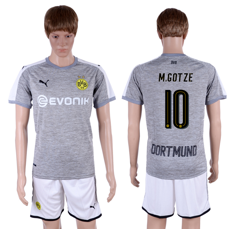 2017-18 Dortmund 10 M.GOTZE Third Away Soccer Jersey