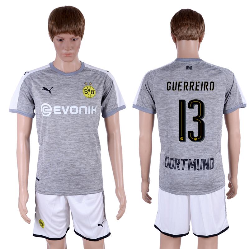 2017-18 Dortmund 13 GUERREIRO Third Away Soccer Jersey