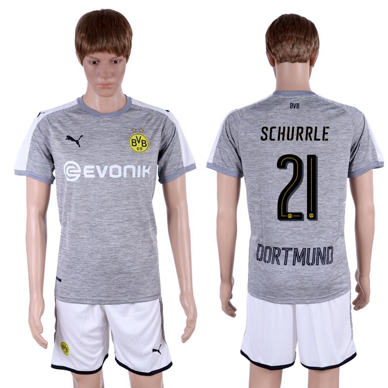 2017-18 Dortmund 21 SCHURRLE Third Away Soccer Jersey