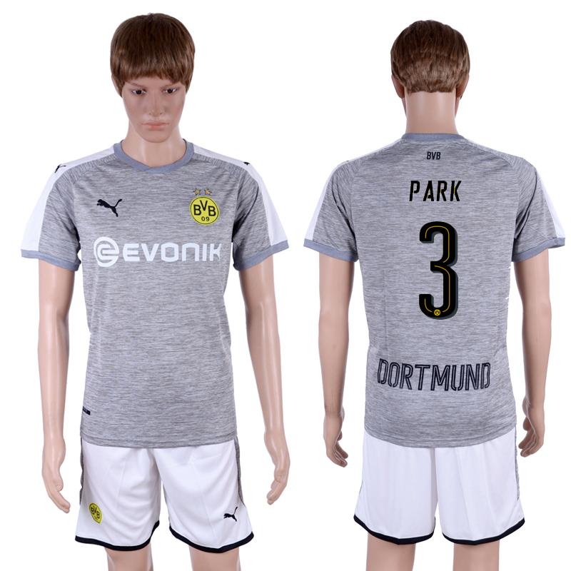 2017-18 Dortmund 3 PARK Third Away Soccer Jersey
