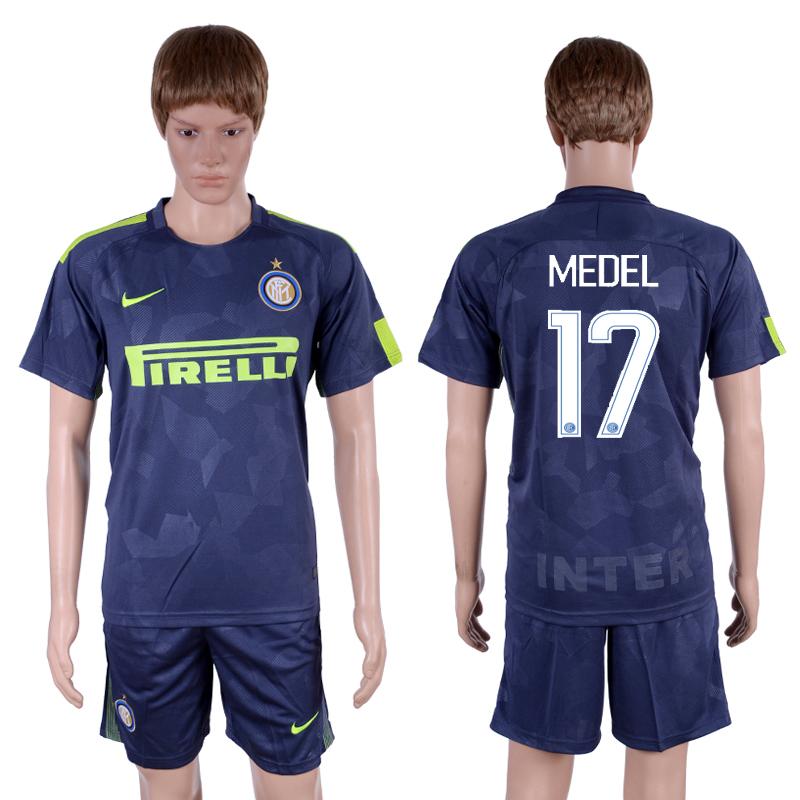 2017-18 Inter Milan 17 MEDEL Third Away Soccer Jersey