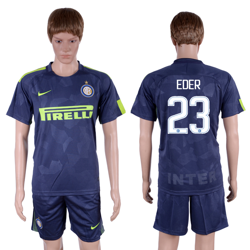 2017-18 Inter Milan 23 EDER Third Away Soccer Jersey
