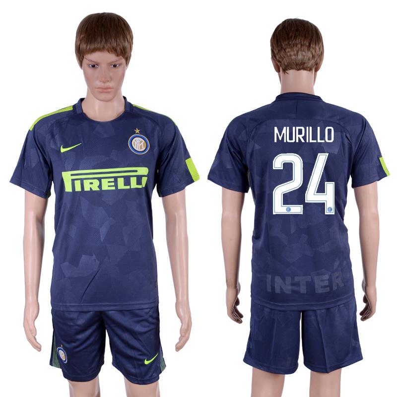 2017-18 Inter Milan 24 MURILLO Third Away Soccer Jersey