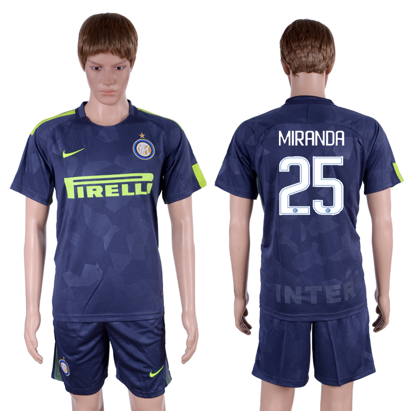 2017-18 Inter Milan 25 MIRANDA Third Away Soccer Jersey