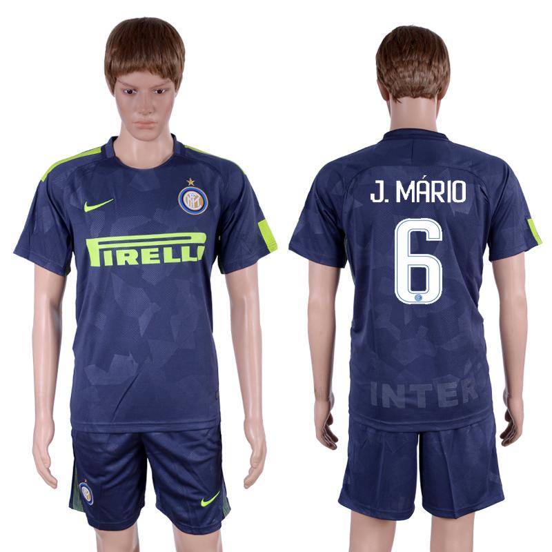 2017-18 Inter Milan 6 J. MARIO Third Away Soccer Jersey