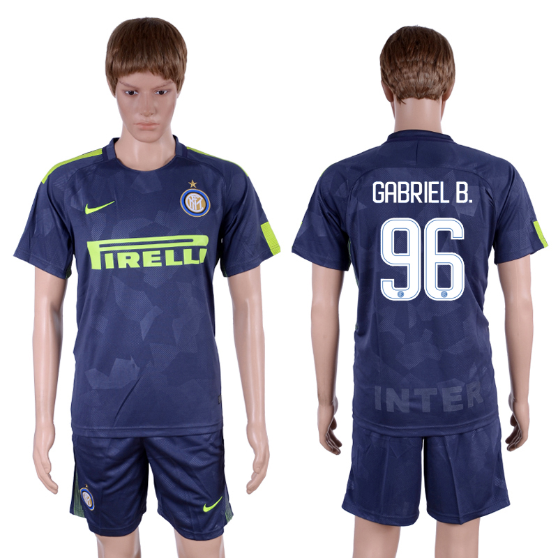 2017-18 Inter Milan 96 GABRIEL B. Third Away Soccer Jersey