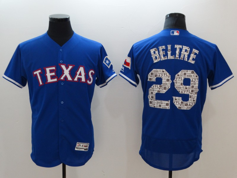 Rangers 29 Adrian Beltre Royal 2018 Spring Training Flexbase Jersey