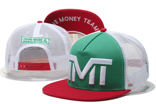 The Money Team White Logo Green Adjustable Hat GS