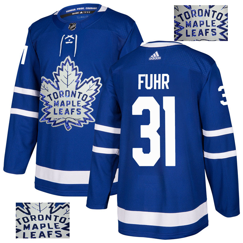 Maple Leafs 31 Grant Fuhr Blue Glittery Edition Adidas Jersey