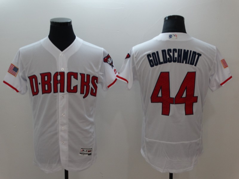 Diamondbacks 44 Paul Goldschmidt White Flexbase Jersey