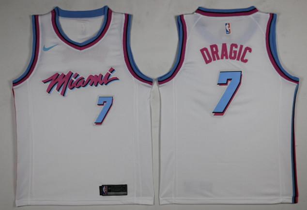 Heat 7 Goran Dragic White City Edition Nike Swingman Jersey