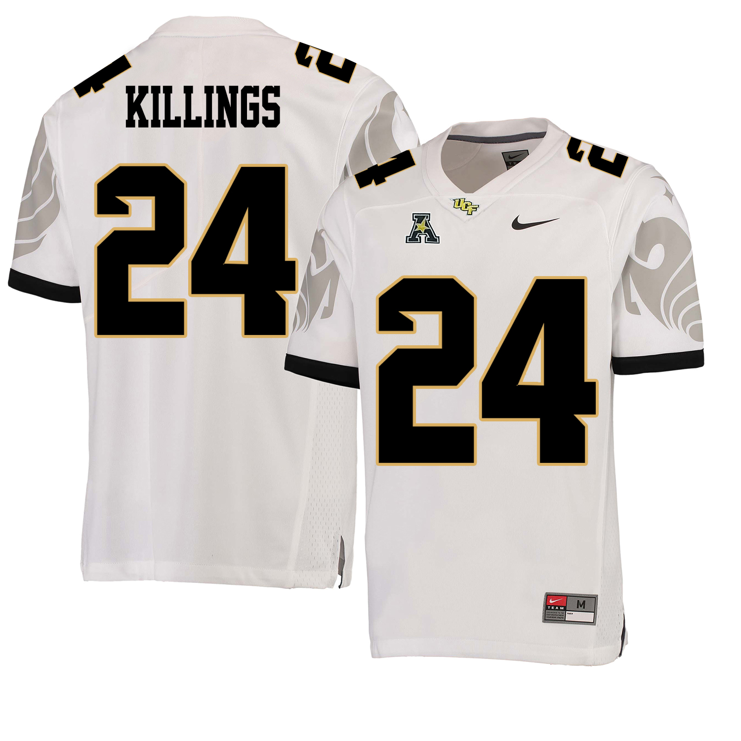 UCF Knights 24 D.J. Killings White College Football Jersey