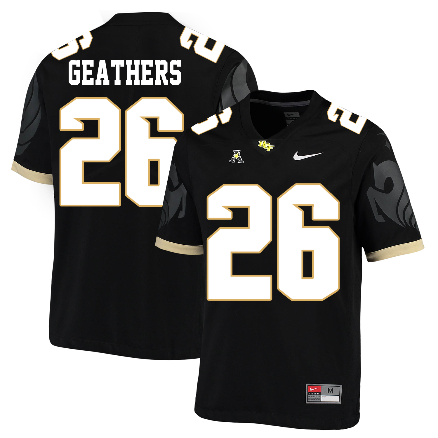 UCF Knights 26 Clayton Geathers Black College Football Jersey