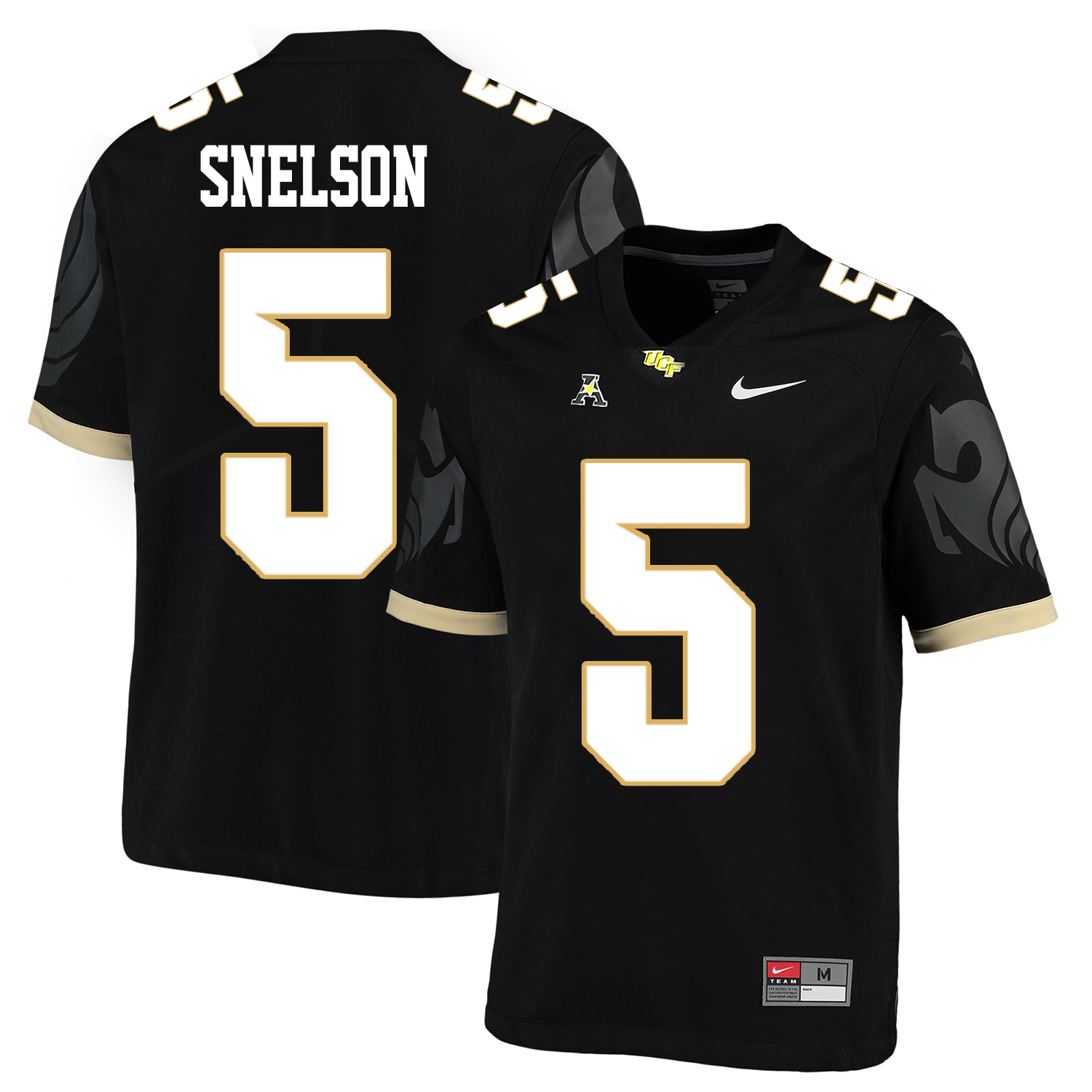 UCF Knights 5 Dredrick Snelson Black College Football Jersey