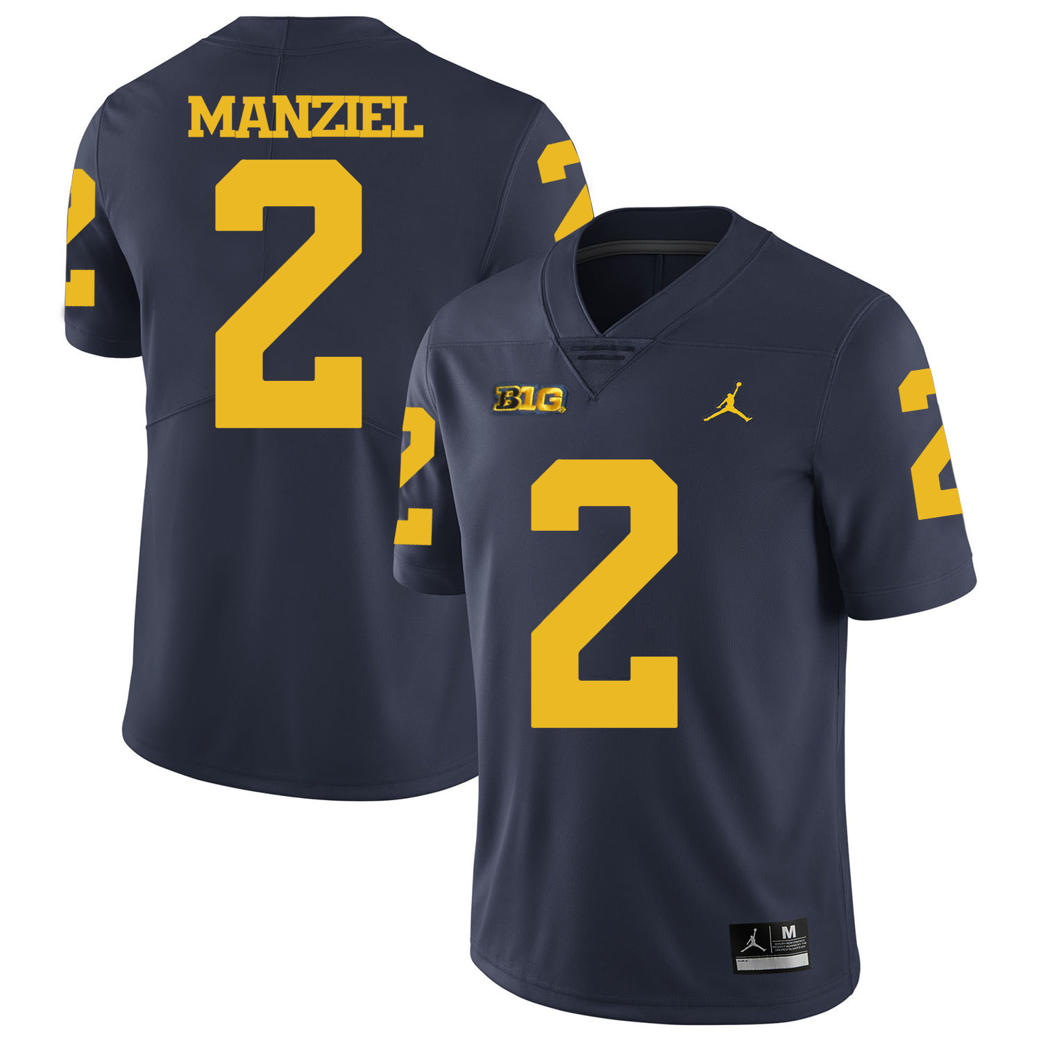 Michigan Wolverines 2 Johnny Manziel Navy College Football Jersey
