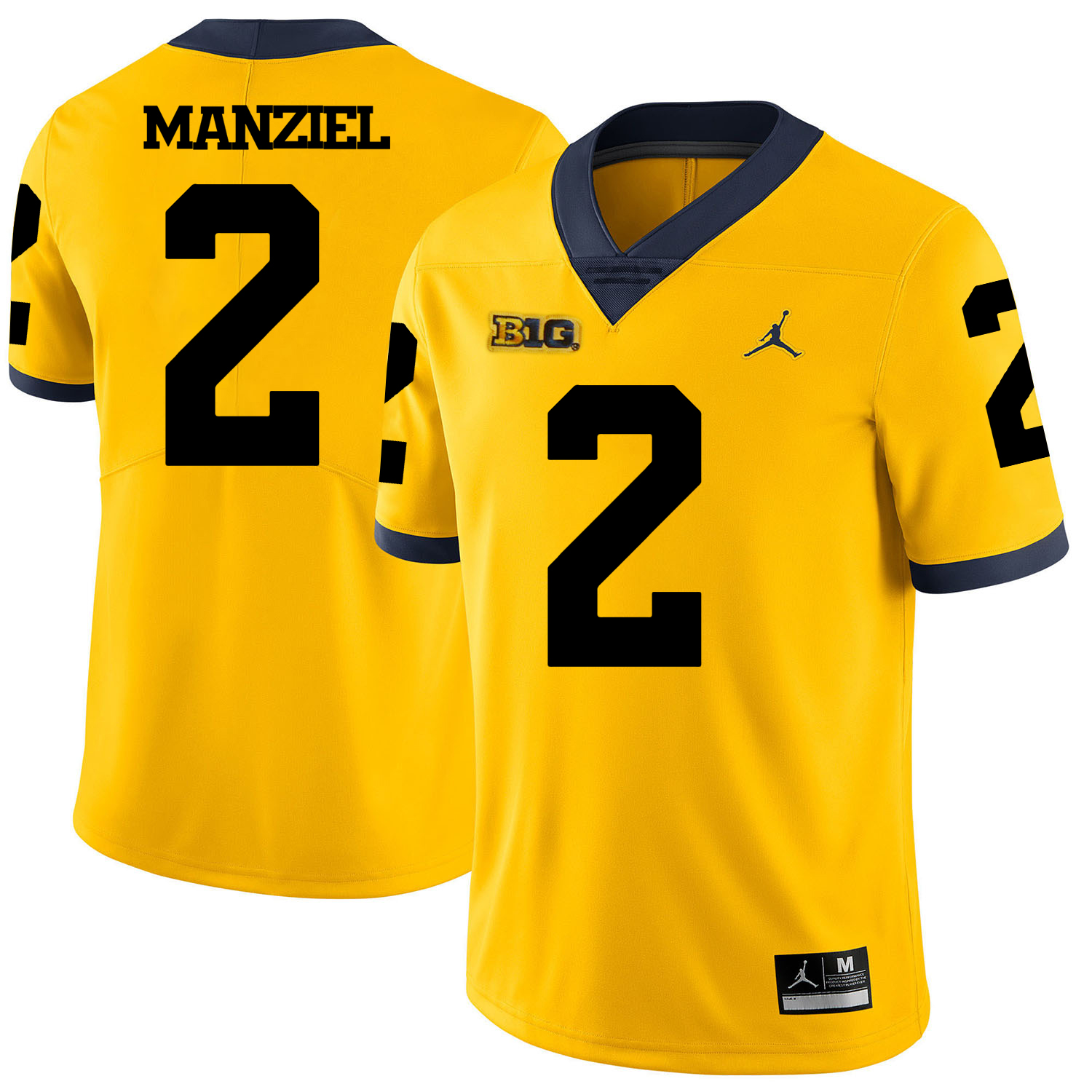 Michigan Wolverines 2 Johnny Manziel Yellow College Football Jersey