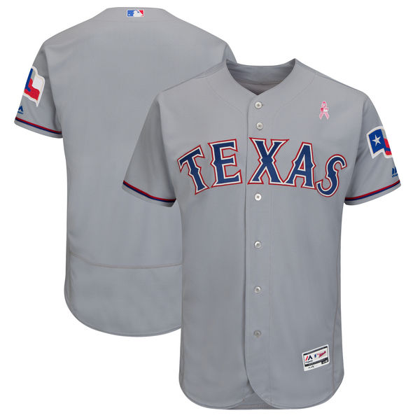 Rangers Blank Gray 2018 Mother's Day Flexbase Jersey