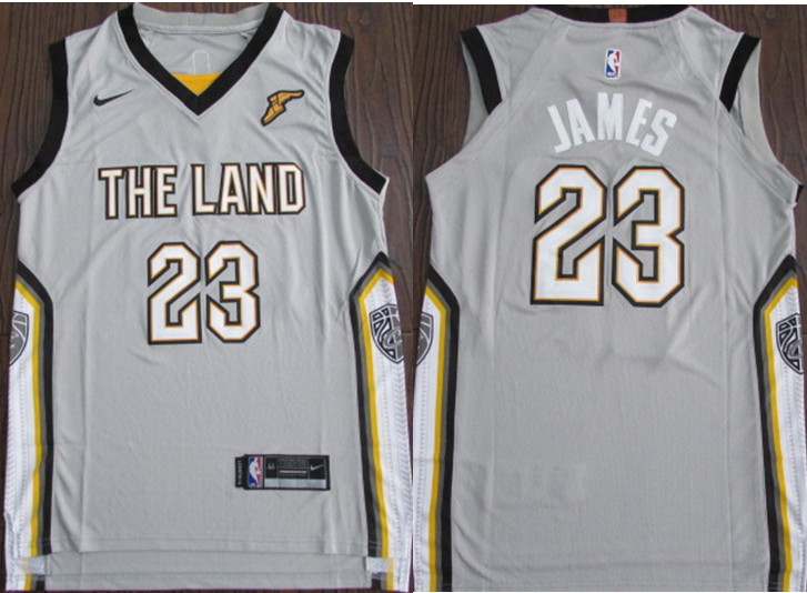 Cavaliers 23 Lebron James Silver City Edition Nike Authentic Jersey