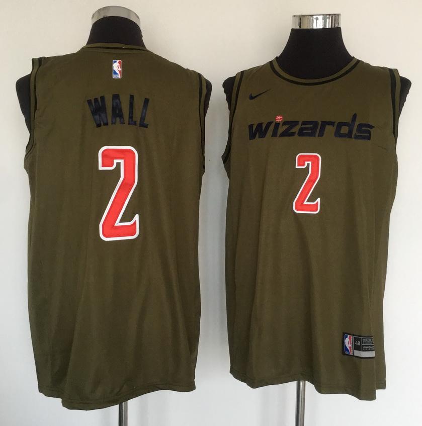 Wizards 2 John Wall Olive Nike Swingman Jersey