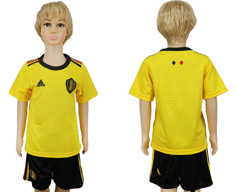Belgium Away Youth 2018 FIFA World Cup Soccer Jersey