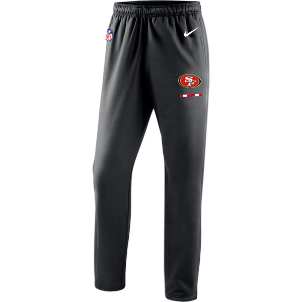 San Francisco 49ers Nike Sideline Team Logo Performance Pants Black