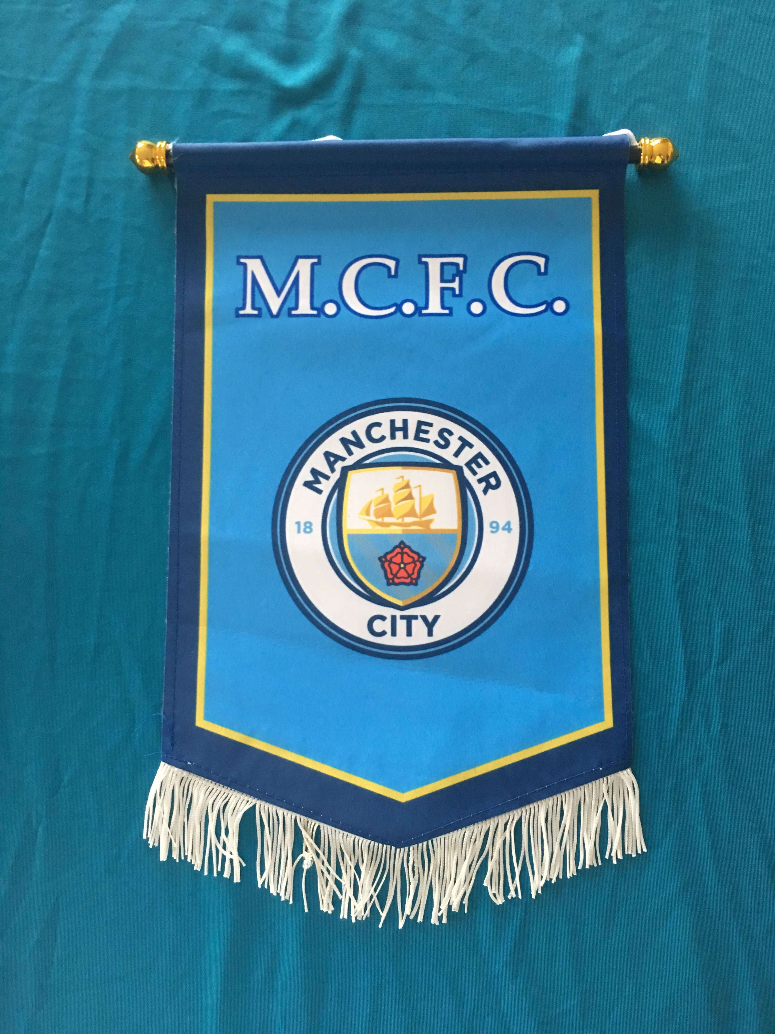 Manchester City Hang Flag Decor Football Fans Souvenir