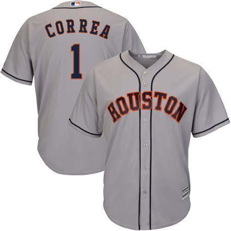 Astros 1 Carlos Correa Gray Cool Base Jersey