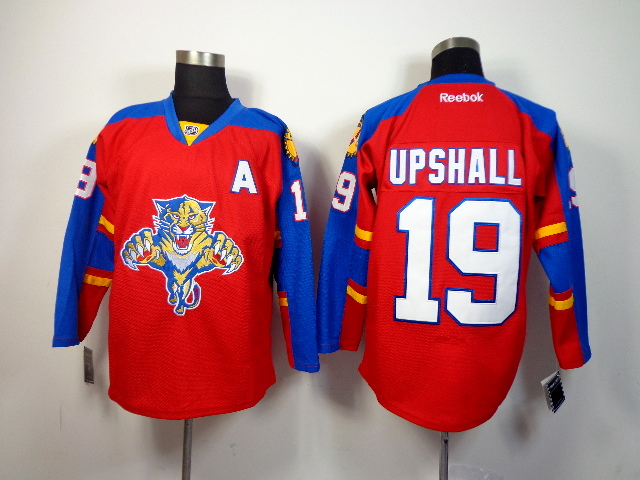 Panthers 19 Upshall Red Jerseys
