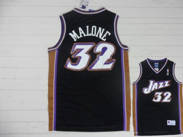 Jazz 32 Malone Black New Revolution 30 Jerseys