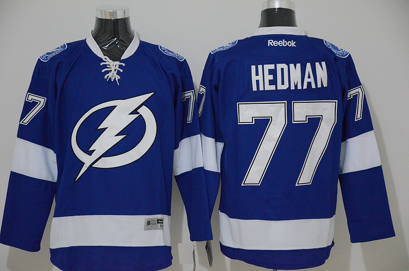 Lightning 77 Hedman Blue Reebok Jerseys