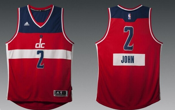 Wizards 2 John Wall Red 2014-15 Christmas Day Swingman Jerseys