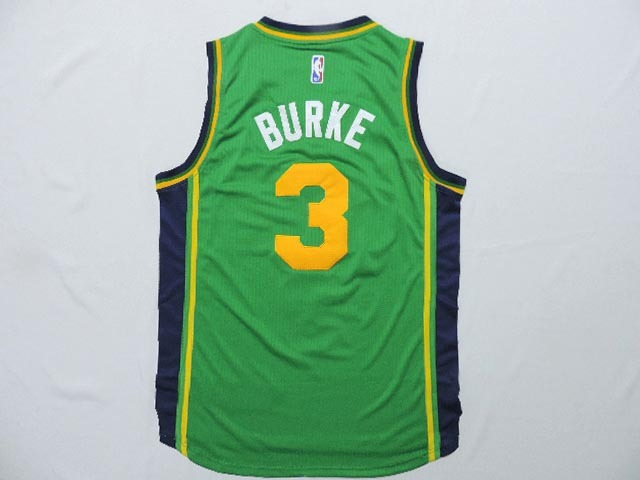 Jazz 3 Trey Burke Green AAA Jerseys
