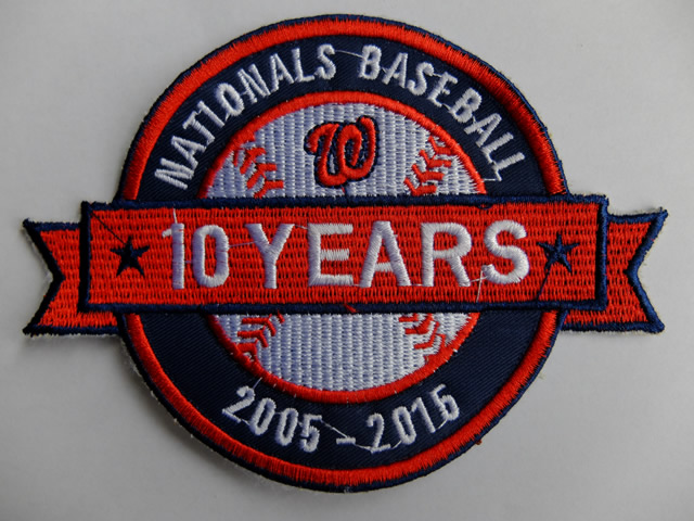 Washington Nationals 2005-2015 10 Years Patch