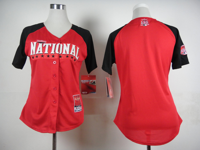 National League Blank Red 2015 All Star Women Jersey
