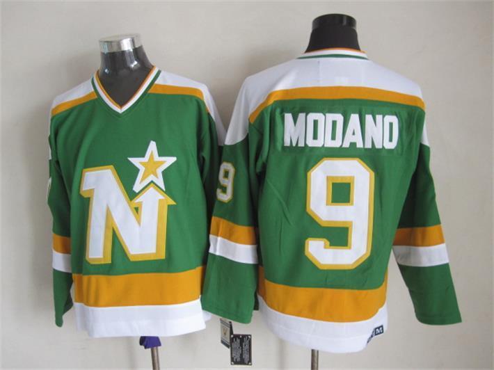 Stars 9 Modano Green CCM Jersey