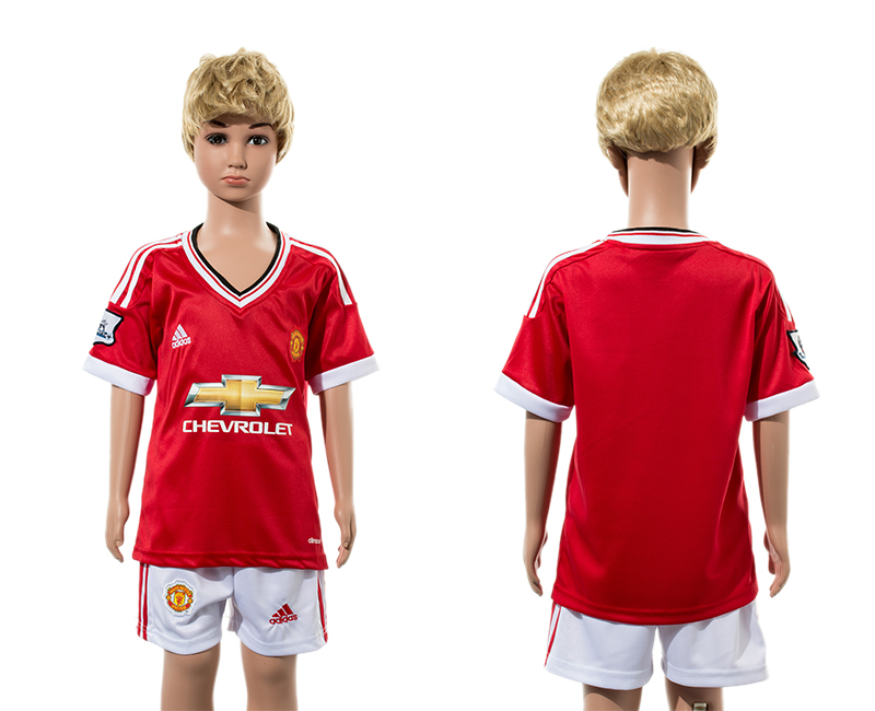 2015-16 Manchester United Home Youth Jersey