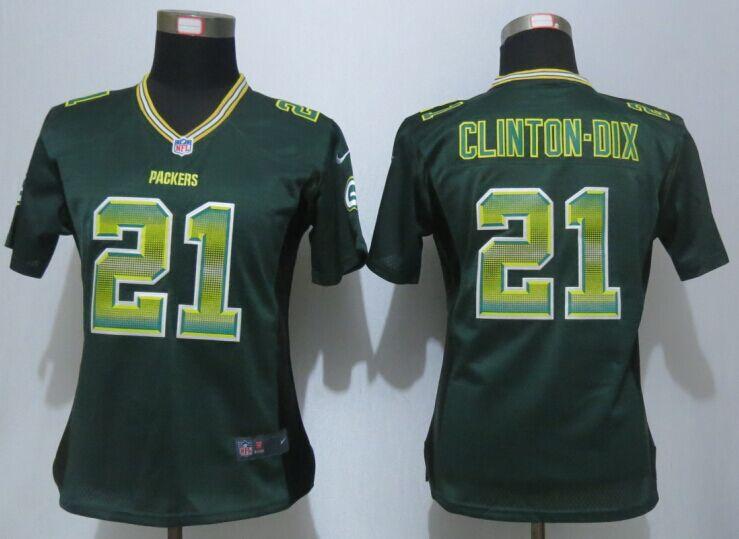 Nike Packers 21 Ha Ha Clinton Dix Green Pro Line Fashion Strobe Women Jersey