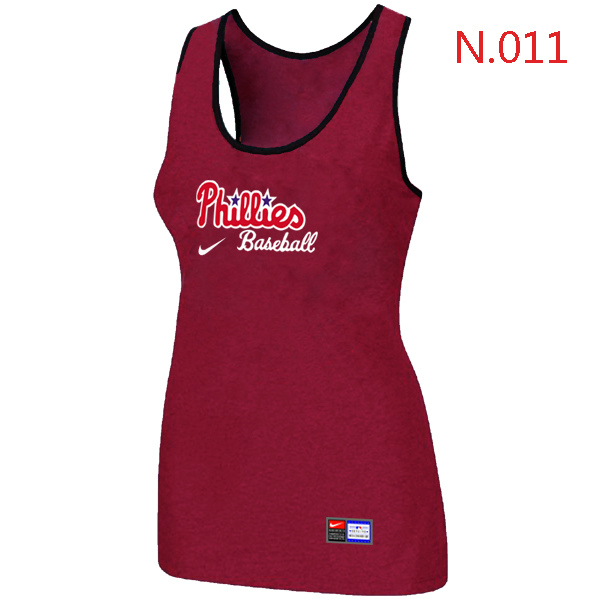 Nike Philadelphia Phillies Tri Blend Racerback Stretch Tank Top Red
