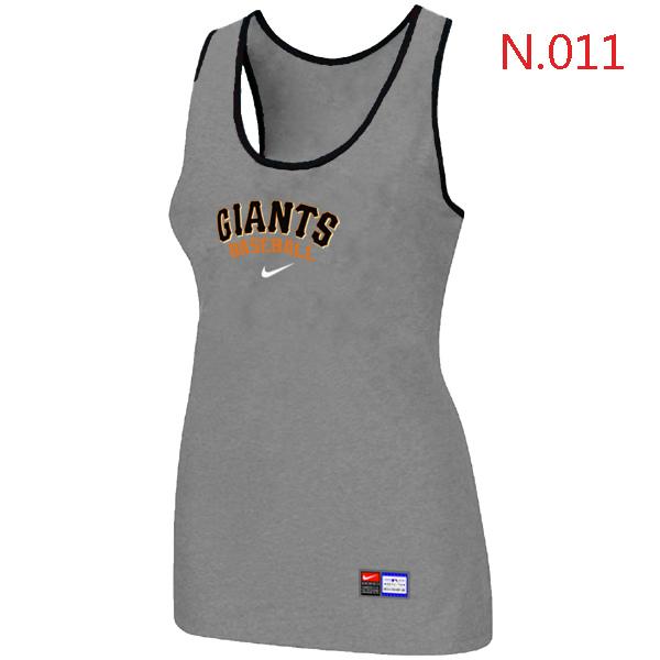Nike San Francisco Giants Tri Blend Racerback Stretch Tank Top L.grey