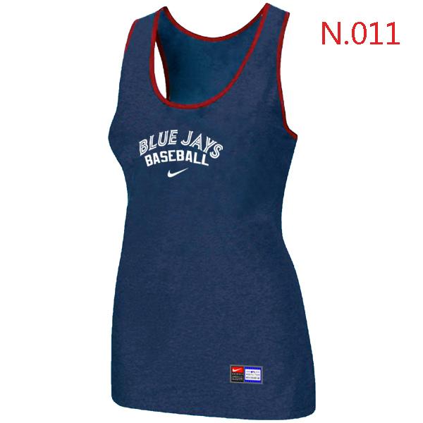 Nike Toronto Blue Jays Tri Blend Racerback Stretch Tank Top Blue